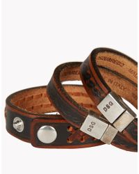 DSquared² - Brown Braid & Stamp Armlet for Men - Lyst