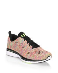 Athletic Propulsion Labs | Pink Techloom Pro Knit Sneakers | Lyst