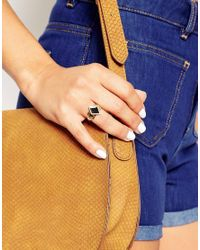 ASOS | Metallic Enamel Cut Out Ring | Lyst