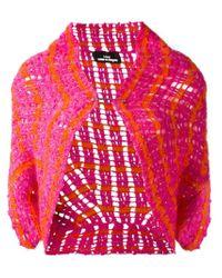 Comme des Garçons - Pink Knit Bolero Jacket - Lyst