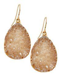 Devon Leigh | Metallic Champagne Druzy Teardrop Earrings | Lyst