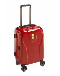 Ferrari Red 'hi-tech - Cabin' Wheeled Carry-on for men
