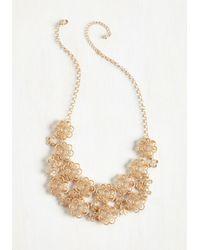 Ana Accessories Inc | Metallic Gold Petal Recipient Necklace | Lyst