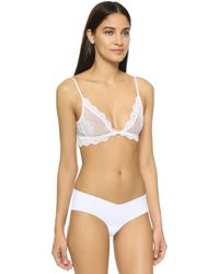 Only Hearts | White So Fine Lace Bralette | Lyst