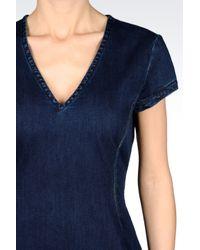 Armani Jeans | Blue Stretch Denim Dress | Lyst