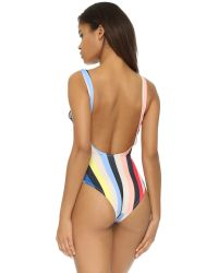 Solid & Striped Multicolor Anne Marie One Piece Swimsuit