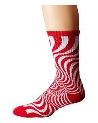 Huf | Red X Spitfire Swirl Sock | Lyst
