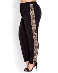 Forever 21 - Black Run Wild Woven Trousers - Lyst