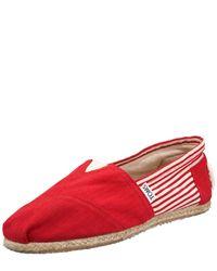 TOMS | Red University Slip-on | Lyst
