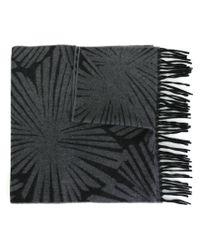 Nina Ricci - Gray Intarsia Knit Scarf - Lyst