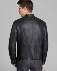 John Varvatos | Black Usa Denimstyle Leather Jacket for Men | Lyst