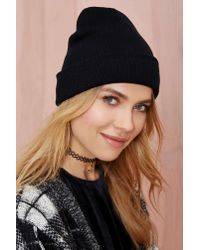 Nasty Gal - Black Cover Your Basics Beanie - Lyst