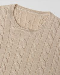 Jaeger Natural Cashmere Cable Crew Neck Knit for men