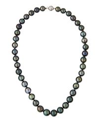 Belpearl | Black Off Round Tahitian Pearl Princess Necklace | Lyst