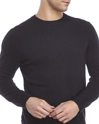 Qi - Black Cashmere Crew Sweater for Men - Lyst