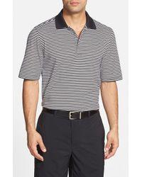Bobby Jones Black 'Flag Stripe' Tailored Fit Pima Cotton Golf Polo for men