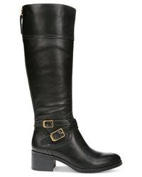 Franco Sarto | Black Lapis Wide Calf Riding Boots | Lyst