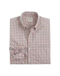 J.Crew - Purple Slim Secret Wash Shirt In Tattersall for Men - Lyst