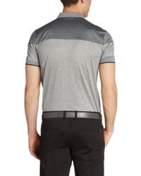 BOSS Green Gray Regular-fit Golf Polo Shirt 'pavel' In Cotton for men