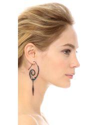 Erickson Beamon - Metallic Fringe Element Spiral Earrings - Silver/clear - Lyst