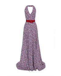 Carolina Herrera - Multicolor Silk Crepe De Chine Ladybug Halter Gown - Lyst