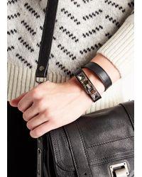 Proenza Schouler - Ps11 Black Leather Bracelet - Lyst