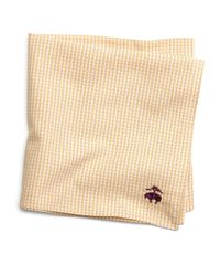 Brooks Brothers | Metallic Micro Check Pocket Square for Men | Lyst