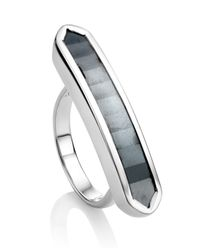 Monica Vinader Black Baja Long Ring