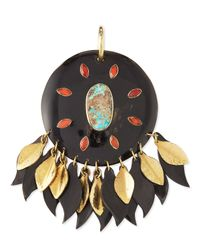 Ashley Pittman - Black Ndoto Dark Horn Medallion Pendant - Lyst
