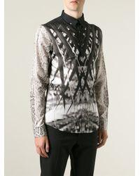 Roberto Cavalli - Black Mix Print Shirt for Men - Lyst