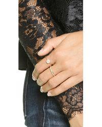 Blanca Monros Gomez - Metallic Flat Seed Pave Diamond Ring - Gold/white Diamond - Lyst