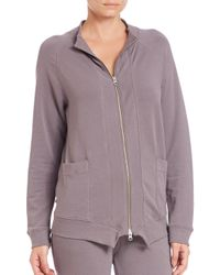 Skin - Purple French Terry Jacket - Lyst