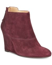 Nine West - Purple Optimistic Booties - Lyst