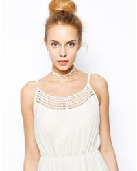 ASOS | Natural Limited Edition Faux Pearl Crochet Choker Necklace | Lyst