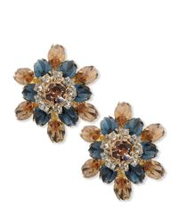 DSquared² Blue Crystal Earrings
