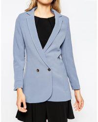 Closet Blue Closet Button Front Blazer