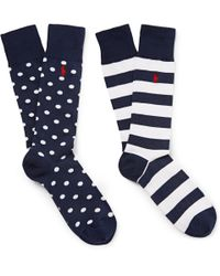 Polo Ralph Lauren | Blue Two Pack Of Cotton-Blend Socks for Men | Lyst