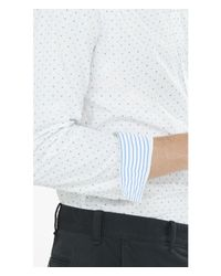 Express | White Soft Wash Micro Print Shirt for Men | Lyst
