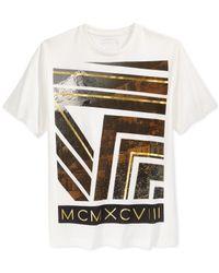 Sean John   Natural Sean Jean Gold Mountain Graphic T-shirt for Men   Lyst