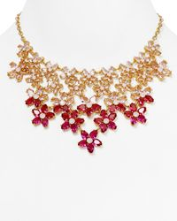 Kate Spade | Red Ombre Bouquet Statement Necklace 18 | Lyst