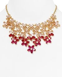 kate spade new york | Red Ombre Bouquet Statement Necklace 18 | Lyst