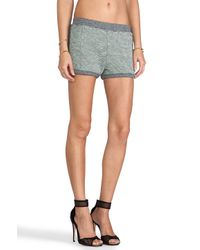 T By Alexander Wang | Rainbow French Terry Shorts in Gray | Lyst