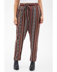 Forever 21 | Multicolor Plus Size Self-tie Southwestern Print Pants | Lyst