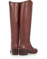 Tory Burch Brown Fulton Leather Knee Boots