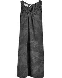 Marni Gray Printed Silk Dress