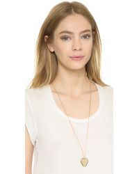 Marc By Marc Jacobs | Metallic Beat It Plectrum Pendant Necklace - Oro | Lyst