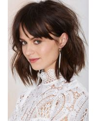 Nasty Gal | Metallic Drop It Down Earrings | Lyst