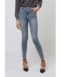 TOPSHOP   Blue Petite Acid Wash Jamie Jeans   Lyst