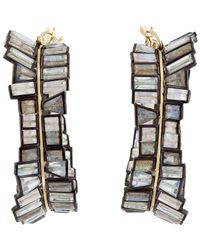 Nak Armstrong | Gray Women's Gemstone Hoops | Lyst