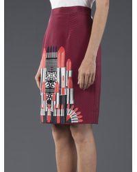 Holly Fulton Red Lipstick Skirt